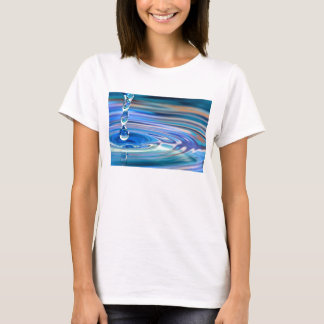Clear Blue Water Drops Flowing T-Shirt