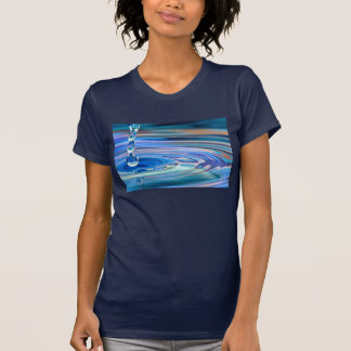 Clear Blue Water Drops Flowing Tshirts