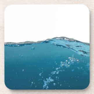 Clear Blue Wave Drink Coaster