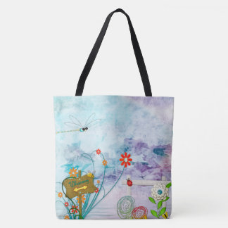 Clear Blue Whimsey Tote Bag