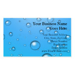 Clear Bubbles, Blue Water Double-Sided Standard Business Cards (Pack Of 100)
