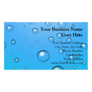 Clear Bubbles, Blue Water Business Cards