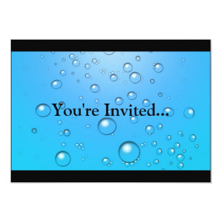 Clear Bubbles, Blue Water Card