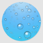 Clear Bubbles, Blue Water Classic Round Sticker