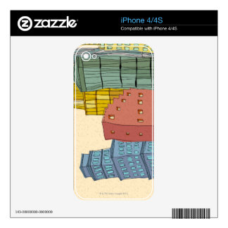 Clear Buildings iPhone 4S Skins