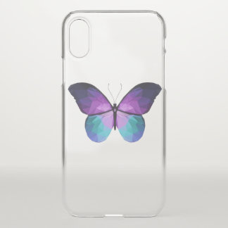 Clear Butterfly iPhone X case