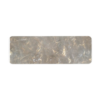 Clear cellophane picture pattern label