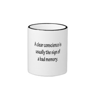Clear Conscience Ringer Mug
