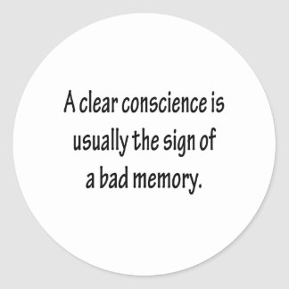 Clear Conscience Sticker