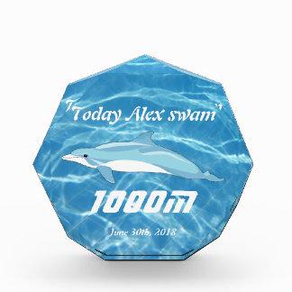 Clear Cool Blue Aquatic Pool Water Swimming Acrylic Award