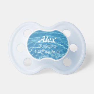 Clear Cool Blue Aquatic Pool Water Swimming Pacifier