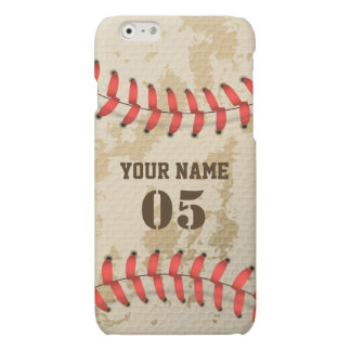 Clear Cool Vintage Baseball Matte iPhone 6 Case