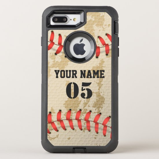 Clear Cool Vintage Baseball OtterBox Defender iPhone 8 Plus/7 Plus Case