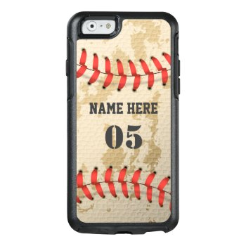 Clear Cool Vintage Baseball Otterbox Iphone 6/6s Case by iPHONE_5_Case at Zazzle