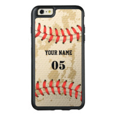 Clear Cool Vintage Baseball OtterBox iPhone 6/6s Plus Case