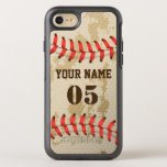 "Clear Cool Vintage Baseball OtterBox Symmetry iPhone 8/7 Case<br><div class=""desc"">You can change it by your Name and your Jersey Number.</div>"