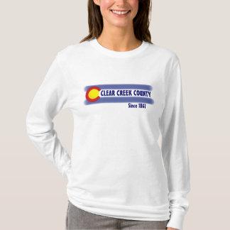 Clear Creek County Colorado flag ladies hoodie