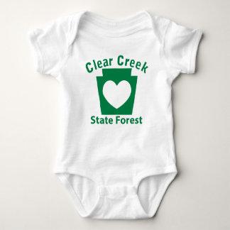 Clear Creek SF Heart Baby Bodysuit