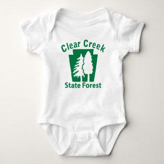 Clear Creek SF Trees Baby Bodysuit