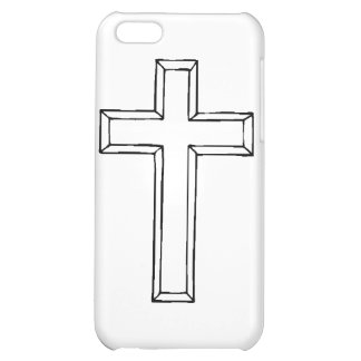 Clear Cross gif Cover For iPhone 5C