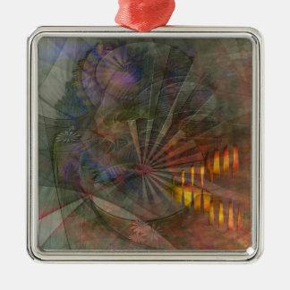 Clear Cut Metal Ornament