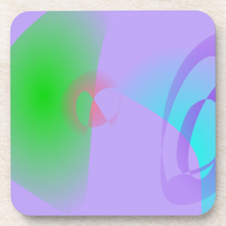 Clear-Cut Outlines Light Purple Abstract Art Drink Coasters