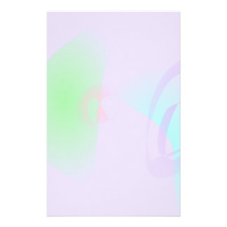 Clear-Cut Outlines Light Purple Abstract Art Stationery
