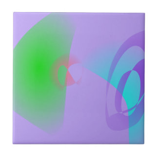 Clear-Cut Outlines Light Purple Abstract Art Tiles