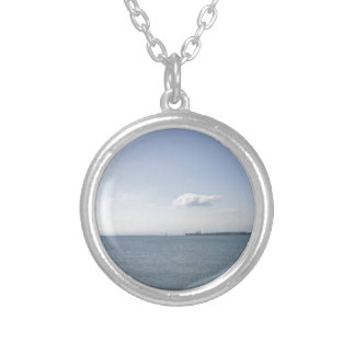 Clear Day out on the Lake Silver Plated Necklace