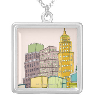 Clear Day Silver Plated Necklace