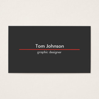 clear design business card