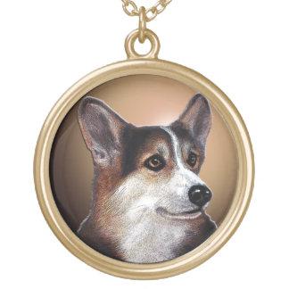 Clear-Eyed Corgi Necklace