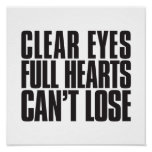 Clear Eyes, Full Hearts, Can't Lose Texas Football Poster