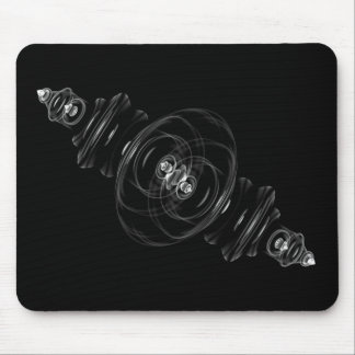 Clear Glass Fractal Mousepad