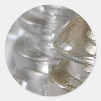 Clear Glass Insulators Classic Round Sticker
