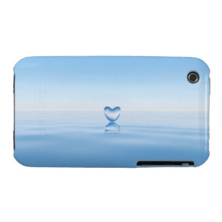 Clear heart shape on water iPhone 3 Case-Mate case