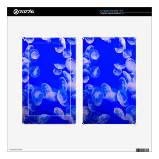 Clear Jellyfish Kindle Fire Skins