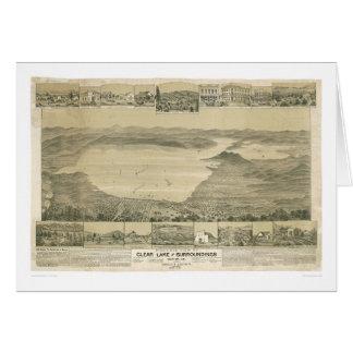 Clear Lake, CA. Panoramic Map (0289A) Greeting Card