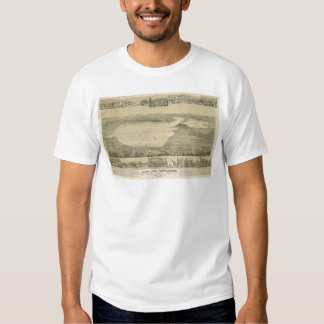 Clear Lake, CA. Panoramic Map (0289A) T Shirt