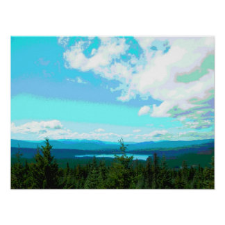 Clear Lake from Clear Lake Butte Fire Lookout Poster