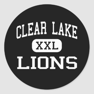 Clear Lake - Lions - High School - Clear Lake Iowa Round Stickers