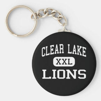 Clear Lake - Lions - Junior - Clear Lake Iowa Basic Round Button Keychain