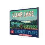 Clear Lake Pear Crate LabelLake County, CA Canvas Print