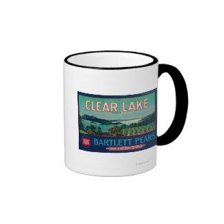 Clear Lake Pear Crate LabelLake County, CA Mugs
