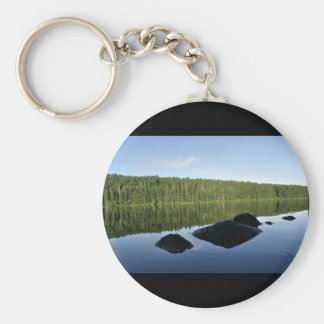 Clear Lake Reflections Keychain