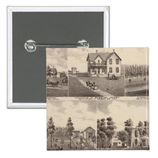 Clear Lake, Waseca, Minnesota 2 Inch Square Button