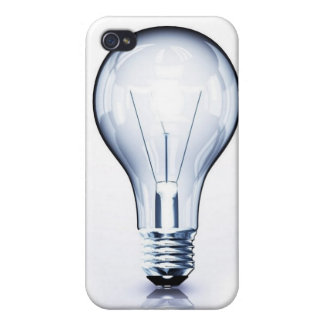 clear light bulb iPhone 4/4S cover
