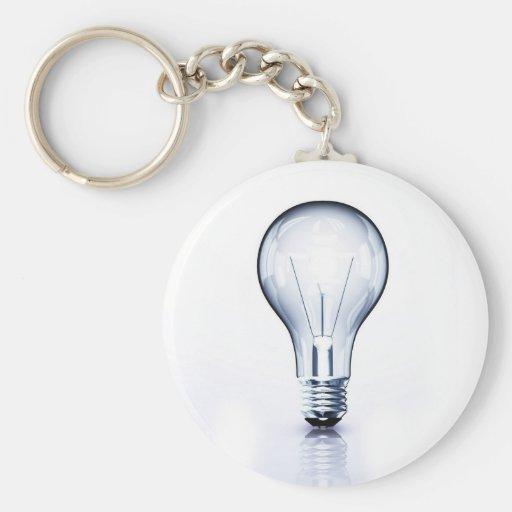 clear light bulb keychain