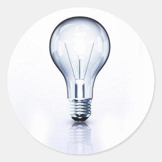 clear light bulb sticker