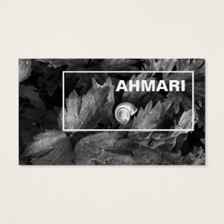 Clear line visiting card